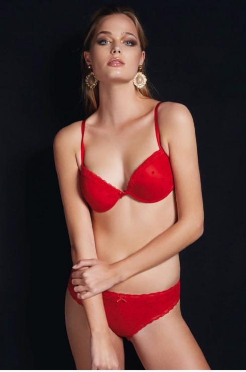 Jadea 4695 rosso Комплект push up + slip